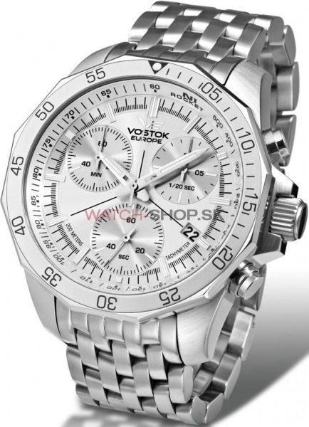 Vostok Europe N1 Rocket Chrono Line  6S30 2255178  steel strap ... 647dc574577